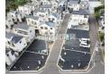 【外観】現地販売空撮全景(2020年6月撮影) 大きな開発分譲地なので街みがキレイですね。