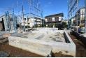 【外観】建物支える大切な基礎はベタ基礎を採用(2019年10月撮影)