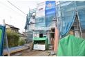 【外観】【建築中】今しか見れない構造部分!地震にも耐えられるように一生懸命建築中です。