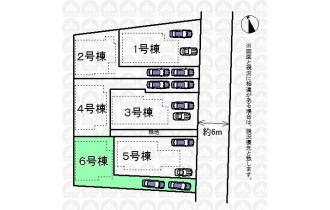 【区画図】カースペースは2台分(車種によります)あり。車2台お持ちの方や急な来客時もこれで安心です!