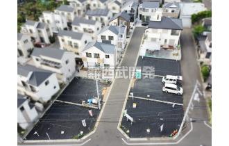 【外観】上空から見た販売現地全景(2020年6月撮影) 整った街並みが魅力の販売現地です。