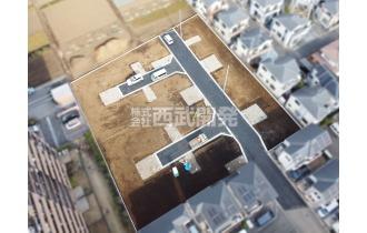 【外観】上空から見た販売現地全体(2020年1月撮影) 全17棟の開発分譲地