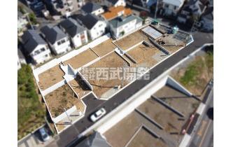 【外観】上空からの販売現地全景(2020年11月撮影) 全10棟の大型現場で町並みキレイとなっております。
