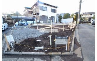 【外観】【建築中】こちらの土地に新築の戸建てが建つ予定です。いまから完成が待ち遠しいです!