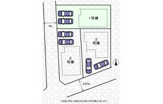 【区画図】区画図:車並列2台可(車種による)