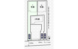 【区画図】全4棟1号棟/敷地面積132.95m2