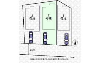 【区画図】南道路の住戸は晴れやかな生活を演出してくれます。朝日に包まれて素敵な一日を始めてみませんか?