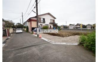 【外観】【現地全景】こちらの土地に新築の戸建てが建つ予定です。いまから完成が待ち遠しいです!