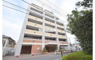 【外観】成増駅徒歩9分の立地/8階建て4階部分/H15年2月築
