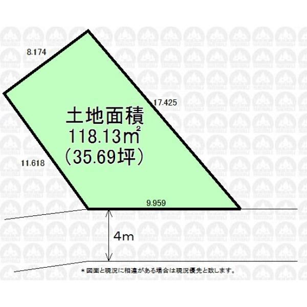 【区画図】建築条件なし売地です/お好きなハウスメーカーで建築できます