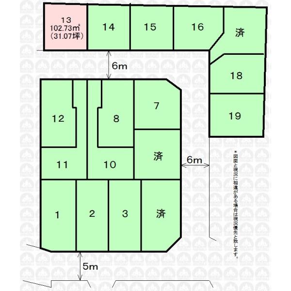 【区画図】フリープランにて建築できます