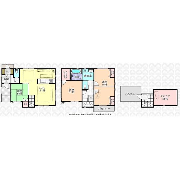 【間取】制震ダンパー住宅/全居室LED照明付き/ハイドア建具/LOW-Eガラス