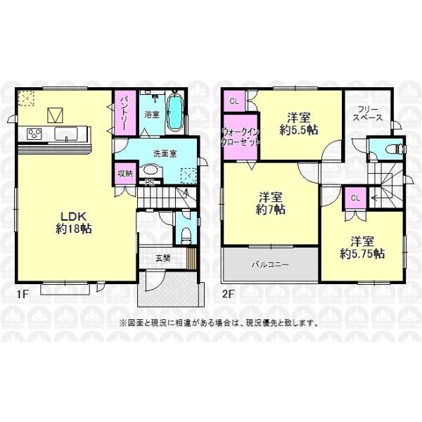 【間取】2階フリースペースはお子様に大人気!収納や書斎、遊び部屋にするなど、アイデア次第で快適空間に大変身!