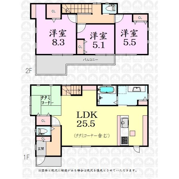 【間取】リビング階段の広いLDK