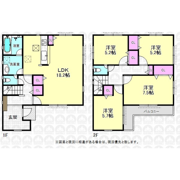 【間取】広々とした玄関が魅力の4LDKのご住宅です。
