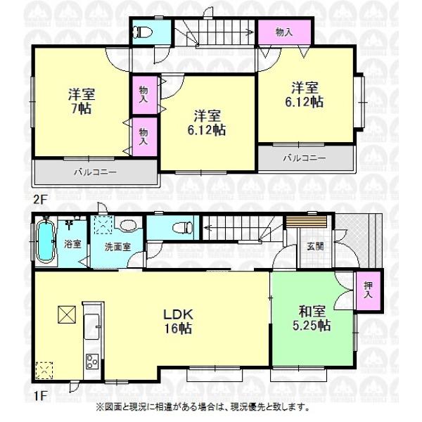 【間取】LDK隣接の和室を開放すると21..25帖の大空間!
