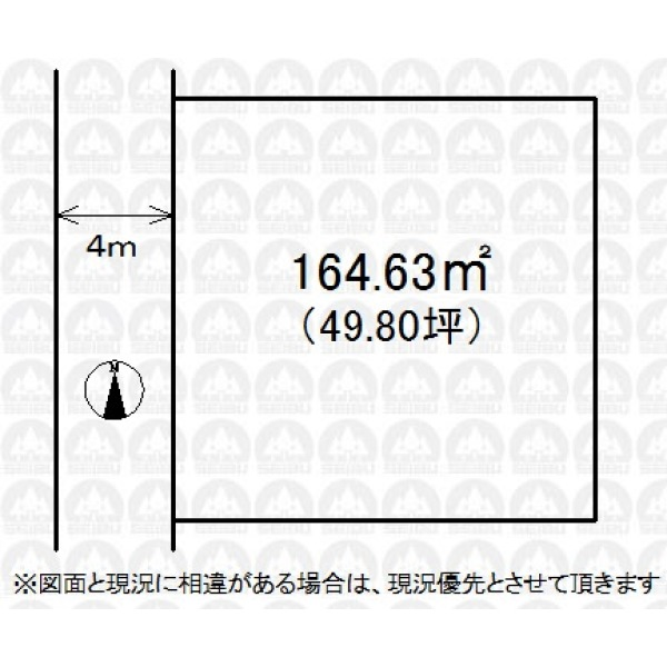 【区画図】敷地広々49.80坪!お好きなハウスメーカー・工務店で施工可能です!