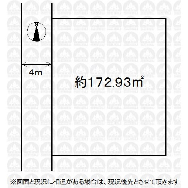 【区画図】敷地面積広々約52.31坪!