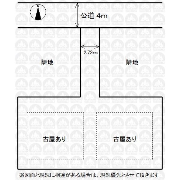 【区画図】敷地面積57.4坪!建築条件なしなのでお好きなハウスメーカーで建築いただけます。