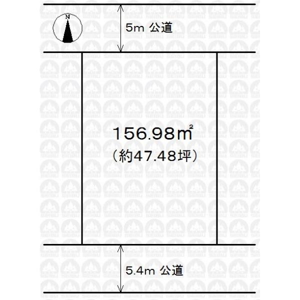 【区画図】敷地広々47.48坪!