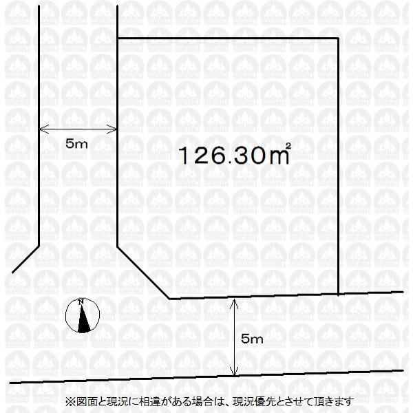 【区画図】実測図では有りません。