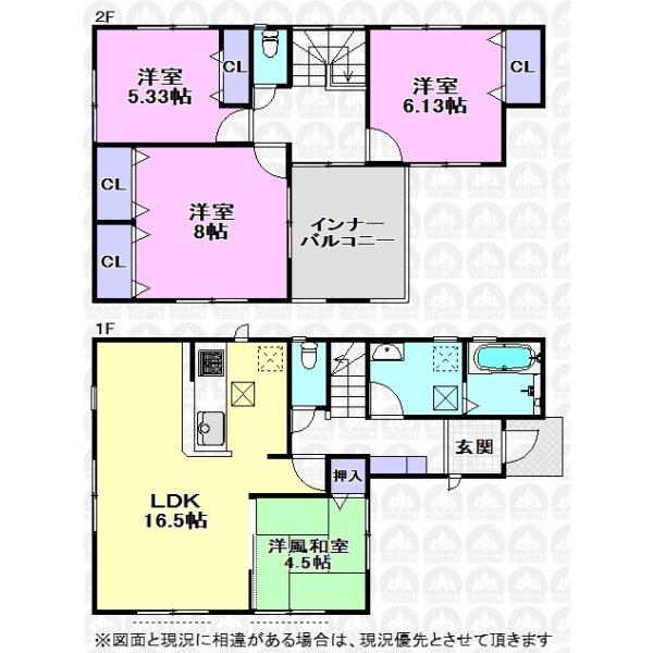 【間取】主寝室8帖と広々ルーフバルコニーで余裕のある暮らし。