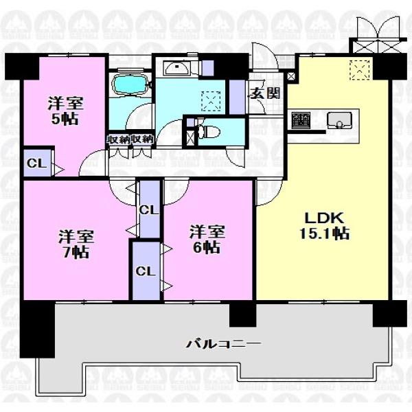 【間取】床暖房、食洗機等嬉しい設備充実!大切なペットと暮らせるご住宅でぜひ新生活を!