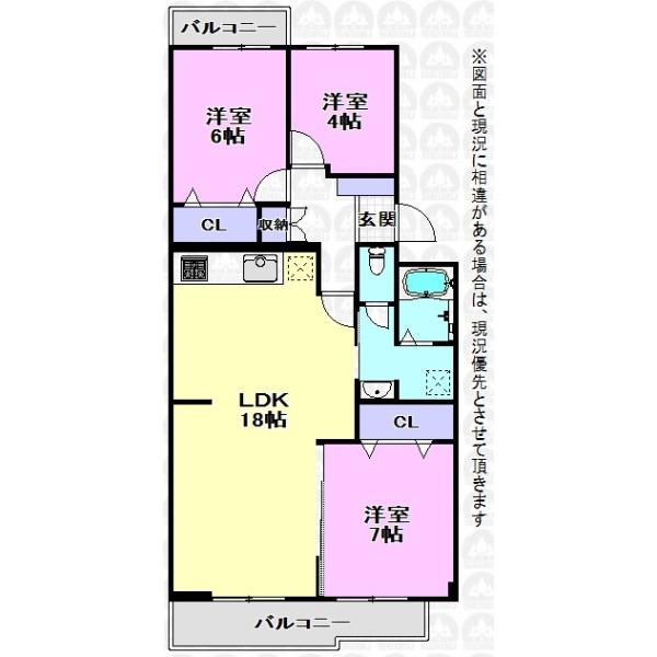 【間取】ご家族が集まるLDKは広々18帖!新規リフォーム済みのキレイなご住宅でワクワク新生活!