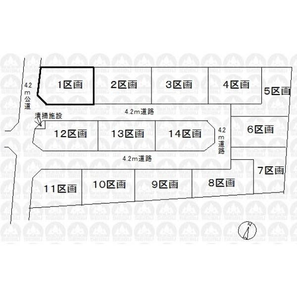 【区画図】開発現場/南西角地