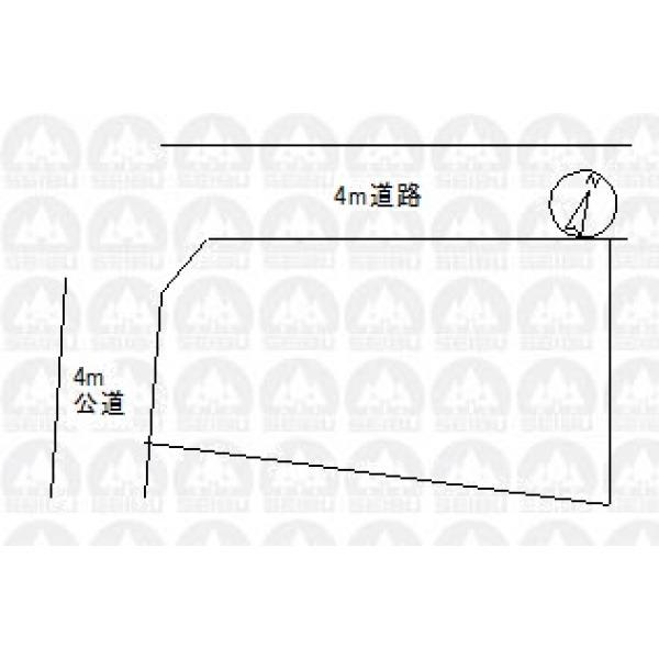 【区画図】角地