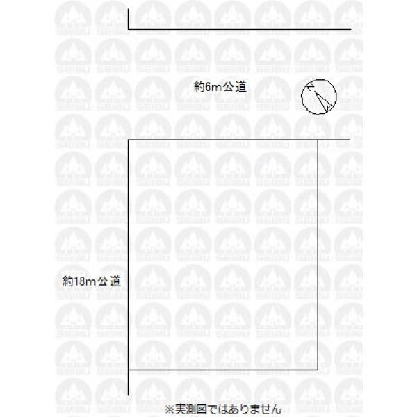 【区画図】角地/整形地