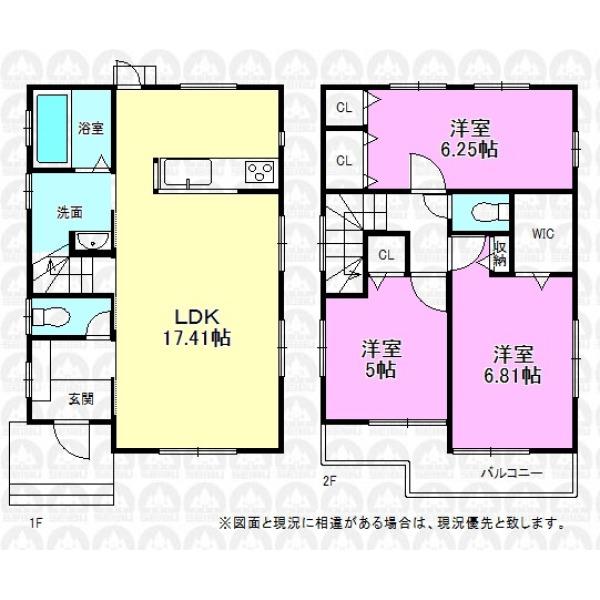 【間取】全室2面採光の明るいプラン、LDKは17帖のゆとりを確保