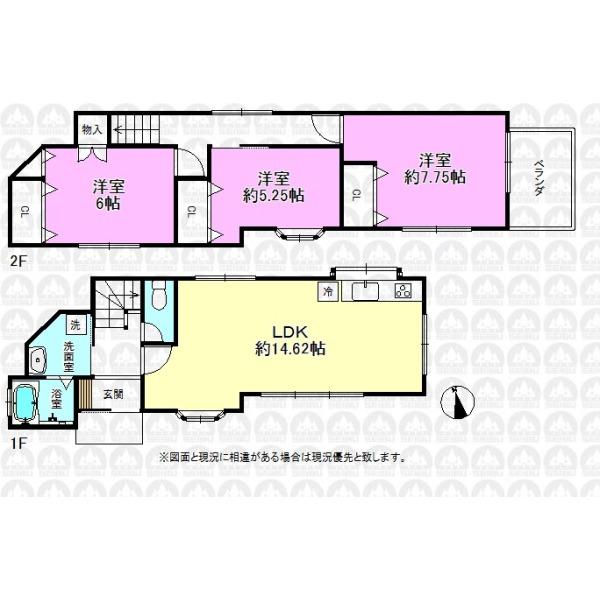 【間取】建物面積80.59m2/全室南向きに付き陽当たり良好
