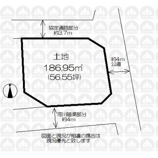 【区画図】土地約56坪
