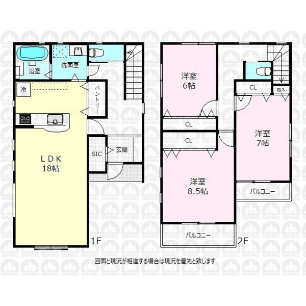 【間取】全居室6帖以上を確保した103.22m2の大型3LDK