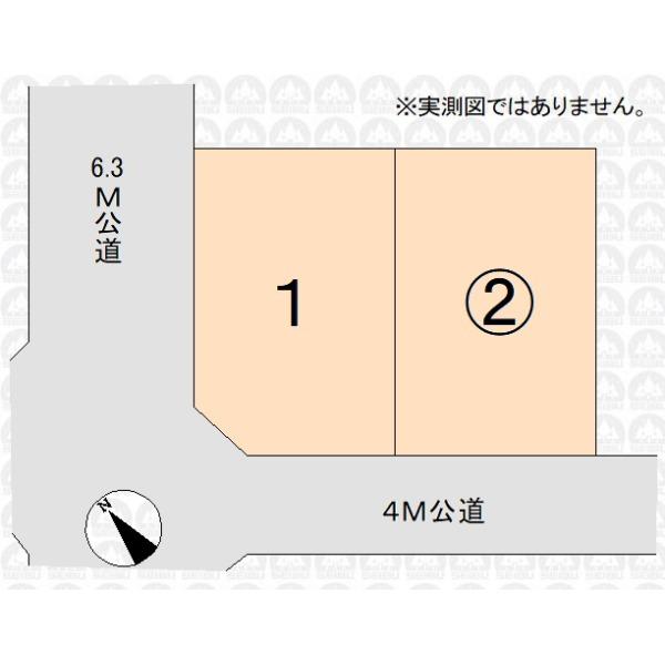 【区画図】南西公道面