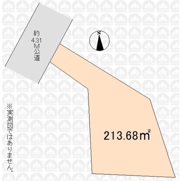 【区画図】土地正味64坪
